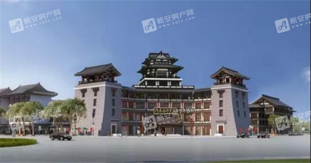 隋唐运河古镇大观园效果图
