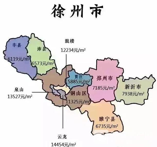 2020年4月徐州房价地图
