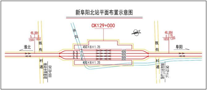 新阜阳北站平面规划图