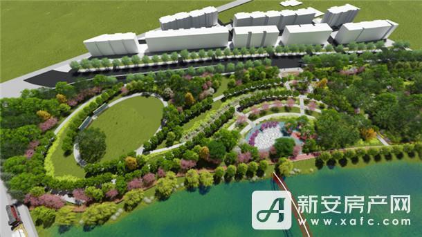 沱河景观带铁路游园工程