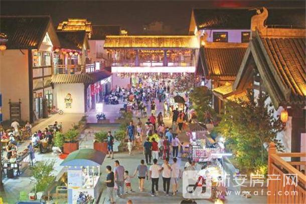 淮北隋唐运河古镇实景图
