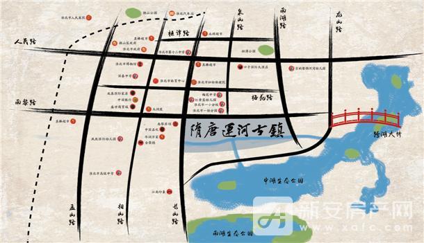 隋唐运河古镇区位效果图