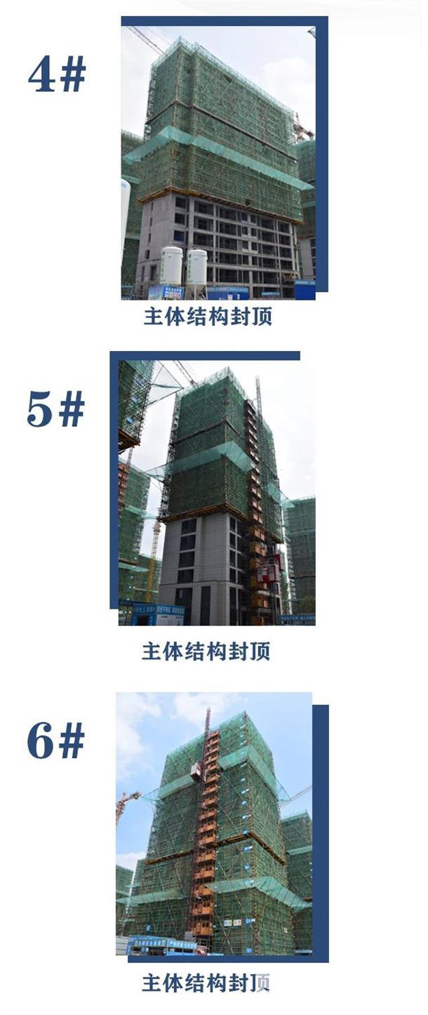 淮北建投绿城诚园7月工程进度 (4)