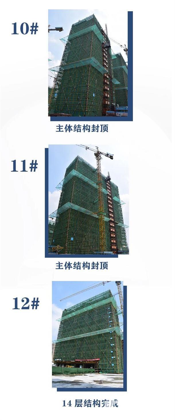 淮北建投绿城诚园7月工程进度 (6)