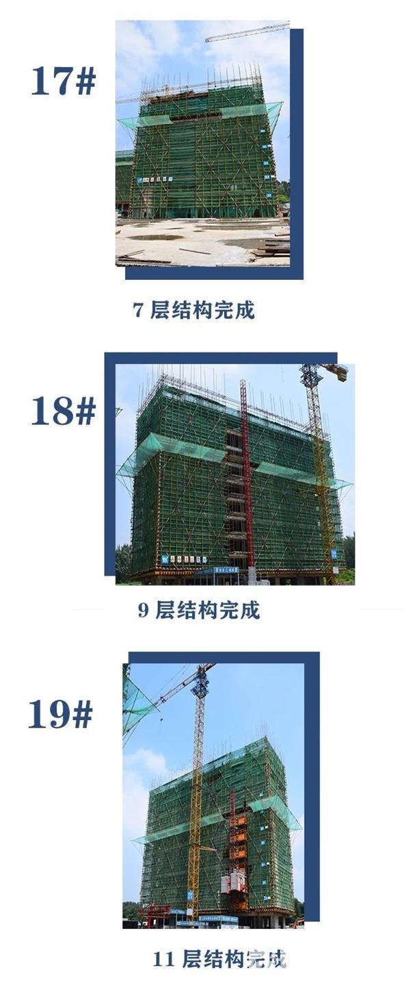 淮北建投绿城诚园7月工程进度 (8)